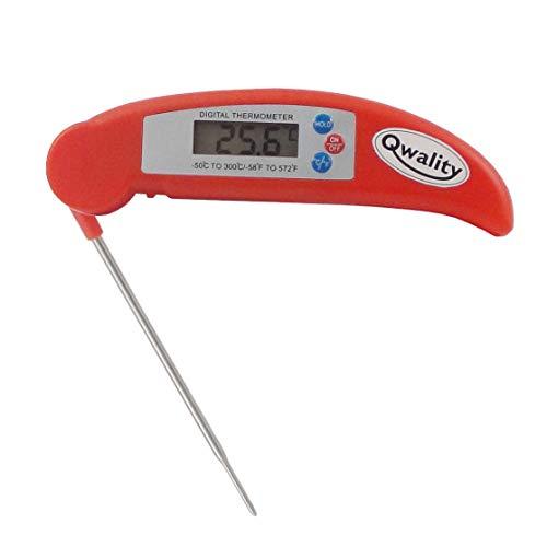 Digitale Kook Thermometer - Vleesthermometer keuken - Inklapbaar design - Temperatuur range -50 °C tot 300°C - Qwality