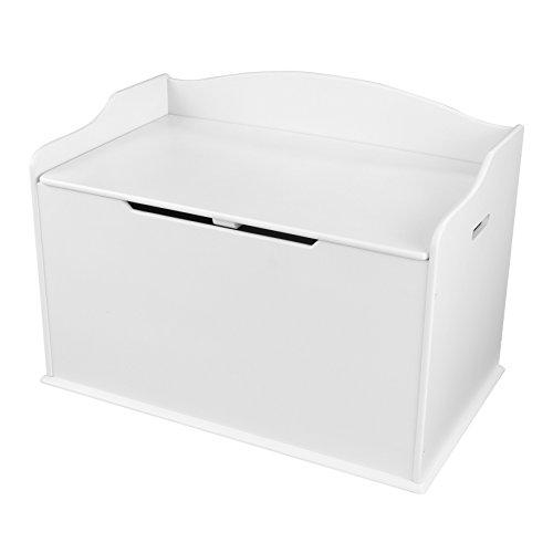 KidKraft 14951 Scatola con coperchio Austin per giocattoli in legno, mobili per camera da letto e sala giochi per bambini - Bianco