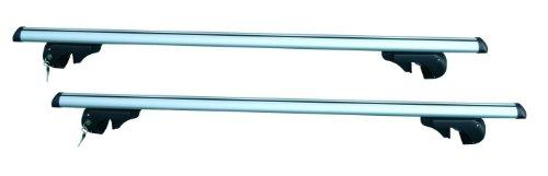 HP max. 90 kg Coppia Barre da Tetto Completa per Auto con Rails Rialzati, Argento, Extra Large - 135 cm