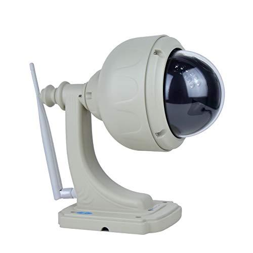 Vstarcam - Cámara 360 de vigilancia IP WiFi giratoria con Zoom para Exterior casa en Forma farola con Almacenamiento Interno de tajeta SD
