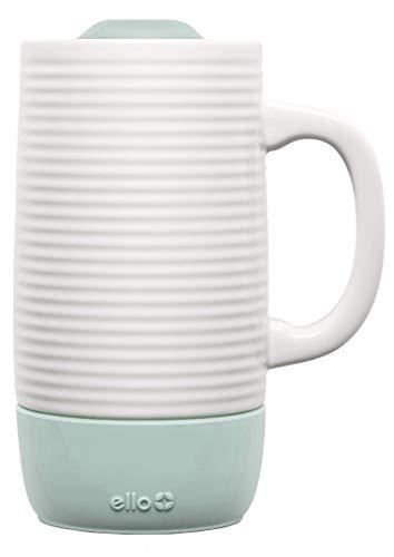 Ello Jane Ceramic Travel Mug with Slider Lid, 18 oz, Yucca