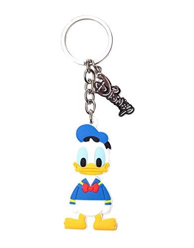 Bioworld Disney Donald Duck Rubber Keychain Schlüsselanhänger 16 Centimeters Mehrfarbig (Multicoloured)