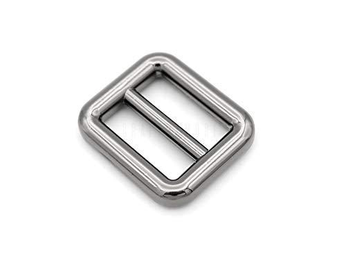 CRAFTMEMORE 6pcs Metal Slide Buckle Bag Belt Strap Keeper Slider Triglide Strap Adjuster Purse Making Accessories SCSL (5/8 Inch, Gunmetal)