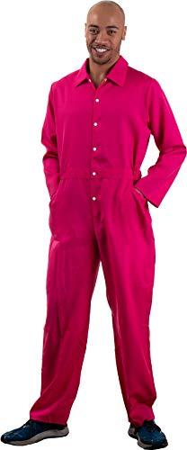Hot Pink Jumpsuit | Costume Cosplay Flight Jump Suit Halloween Unisex Men Women -Pink,S