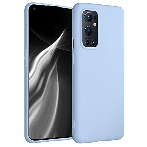 kwmobile Hülle kompatibel mit OnePlus 9 Pro - Hülle Silikon - Soft Handyhülle - Handy Hülle in Hellblau matt