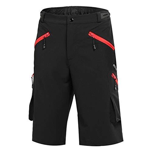 Pantaloncini da ciclismo da 21 grammi Pantaloncini da bici ad asciugatura rapida Pantaloncini da bici da montagna traspiranti larghi con tasche con cerniera Pantaloncini da ciclismo MTB per esterno