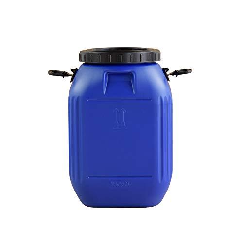 Cubo de plástico sellado de grado alimenticio, cubo multifuncional de almacenamiento de agua a domicilio de grado alimenticio con tapa, protección contra enzimas de protección ambiental portátil,Azul