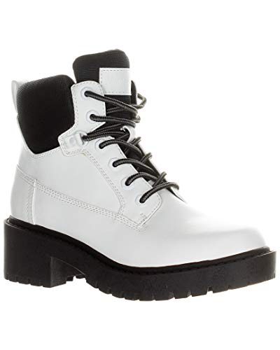 KENDALL + KYLIE Women's Weston Combat Boot White Size 6