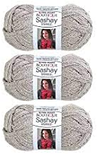 Red Heart Boutique Sashay Sparkle Yarn Platinum Silver [Pack of 3]
