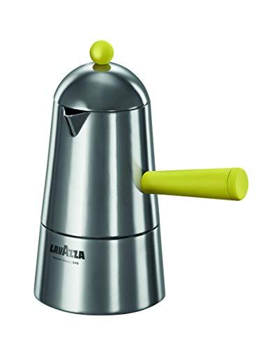 ILSA Lavazza Carmencita Pop Induktionskaffeemaschine aus Aluminium, für Espresso, bunt, gelb, 2/3/6 Tassen (3 Tassen)