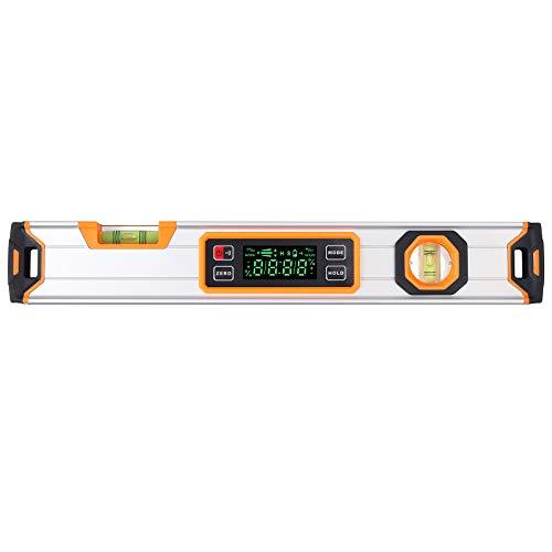 Proster Digital Neigungsmesser winkelmesser mit LCD-Anzeige, 400mm/16Zoll Digitale Wasserwaage, Winkelmesser mit Magnetisch Base, Messung in Grad, Prozent, mm/M