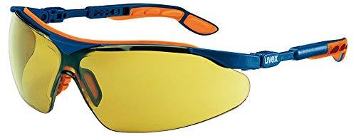 Occhiali Protettivi uvex i-vo | Lenti PC Colore Ambra | Protezione UV 400 | NF EN 166 170 | Lente Esterna Antigraffio | Lente Interna con Funzione Antiappannante Permanente | Ultraleggeri