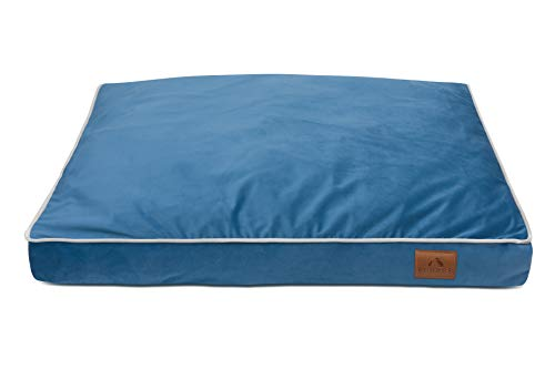 FUUFEE Colchón para perros, cama para perros, sofá para perros, funda extraíble con cremallera, lavable, azul, 80 x 60 cm, M, tamaño mediano y gatos