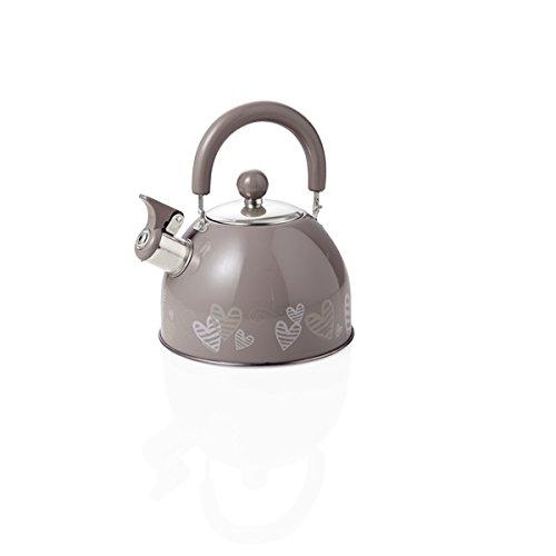 Brandani 54928, bollitore Batticuore tortora in acciaio inox