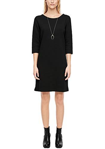 s.Oliver Damen 21.910.82.2672 Kleid, Schwarz (Black 9999), (Herstellergröße: 34)