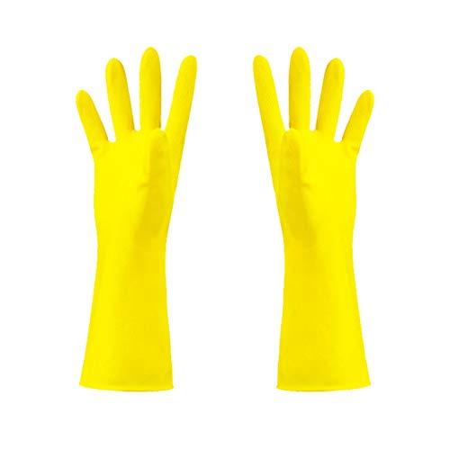 floatofly Guantes de látex a prueba de aceite de protección de látex suave resistente al desgaste, antienvejecimiento, limpieza antideslizante para el hogar, lavavajillas guante multiusos