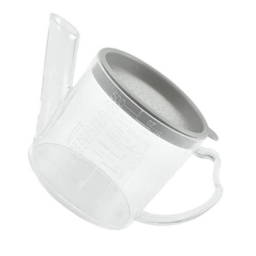 Cabilock Jarra de separación de grasa con filtro de plástico, jarra con filtro separador de grasa, jarra de 500 ml, recipiente para aceite de freído, aceite de cocina, restaurante