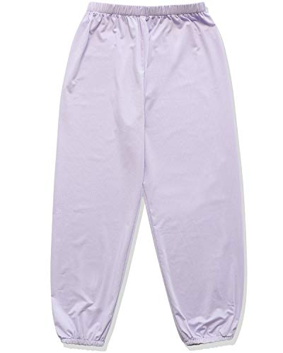 CUNYI Boys' Light Mesh Jogger Pants Anti-Mosquito Casual Pants, Light Purple, 120