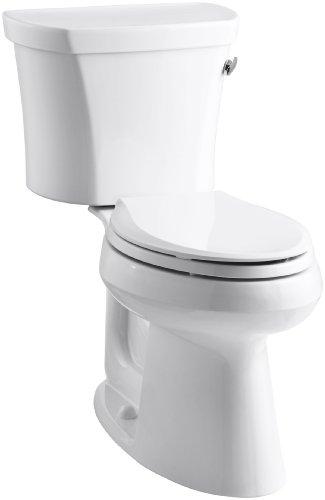 Kohler K-3949-TR-0 Highline Comfort Height 1.28 gpf Toilet, 14-inch Rough-In, Right-Hand Trip Lever, Tank Locks, White