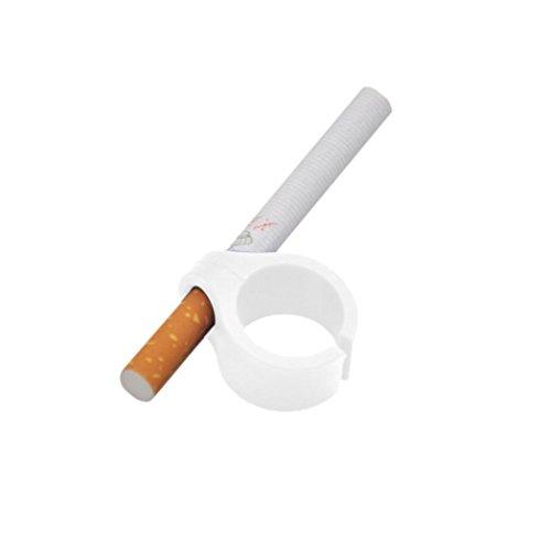 nikotinfreie Finger für Zigaretten Papers Gaming Raucher Ring Upxiang Finger Zigarettenhalter Gaming Gadget Controller Gamer (Weiß)
