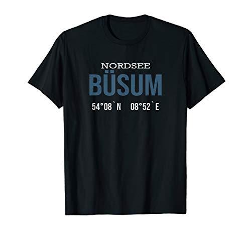 Nordsee Urlaub am Meer Büsum Koordinaten Fun T-Shirt
