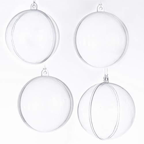 Wedestock Lot de 4 Boules Transparentes à garnir soi-même
