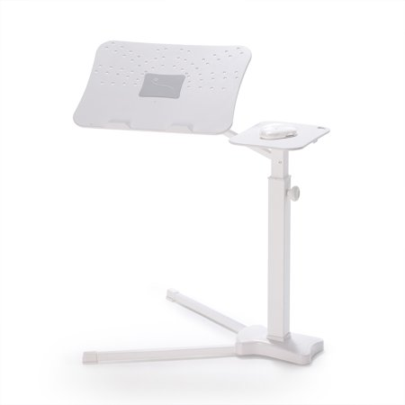 Lounge-Book White - Fully Adjustable Laptop Table, Hold up to 17-18 inchs Notebooks.