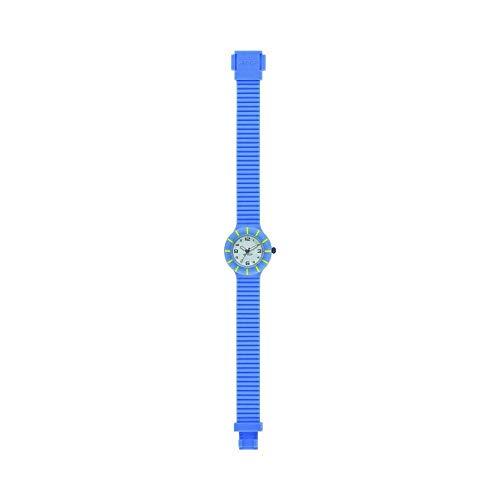 Orologio HIP HOP BAMBINO KIDS quadrante MONO-COLORE BIANCO movimento SOLO TEMPO - 3H QUARZO e CINTURINO SILICONE BLU HWU0760