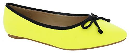 Penny Loves Kenny Women's Ballet Flat, neon Yellow