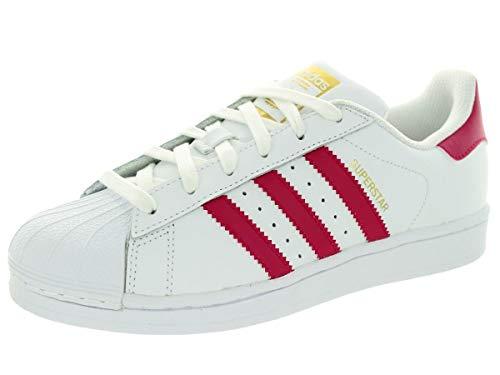 Adidas Superstar Foundation, Zapatillas Unisex Infantil, Blanco / Fucsia, 38 2/3 EU