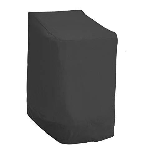 Ghopy Funda Protectora Sillas de Jardín Funda para Sillas Apilables de Jardín y Balcón Impermeable 210D Oxford Resistente al Agua Protección UV 114 x 85 x 65 cm (210D)