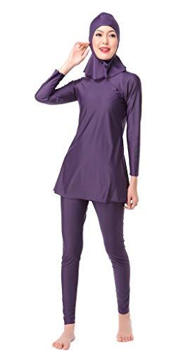 Adelina Traje De Baño De Moda Traje para Mujeres Baño para Moda Completi Mujeres Mujeres Musulmanas Burkini Bikini Chica Traje De Baño Ropa (Color : Blau, Size : M)