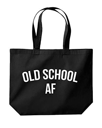 Old School AF Einkaufstasche, 39 x 35 x 13,5 cm, 18 Liter, Schwarz