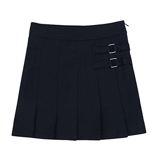 Agoky Falda Plisada Niñas Escocesa Uniforme Escolar Falda Deportiva Tesis Mini Faldas Pantalón Corta Cintura Alta para Chicas(4-14Años)