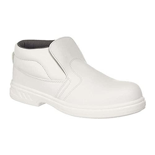 Portwest FW83 - Slip-On de seguridad 44/10 S2, color Blanco, talla 44