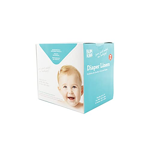 Bumkins Disposable Cloth Diaper Liner, Biodegradable, Neutral, 100 Count, (Pack of 1)
