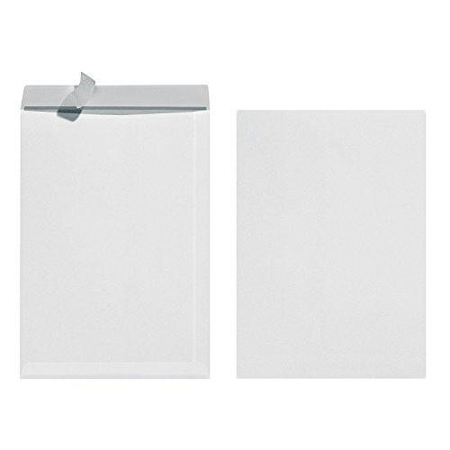 Herlitz 10837599 Versandtasche B4, mit Haftklebung, 50 Stück eingeschweißt weiß (2x25, weiß)