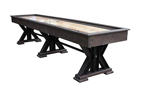 Purchase Berner Billiards The Weathered 16 Foot Shuffleboard Table in Black Oak