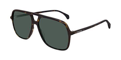 Gucci Gafas de Sol GG0545S DARK HAVANA/GREEN 58/15/145 hombre