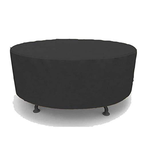 BAOFI Cubierta de Muebles de Jardin 70x70cm, Funda para Muebles de Patio Impermeable, Oxford Ronda de Tela Resistente Resistente a la Rotura Anti-Fade, 2 Colores,Black