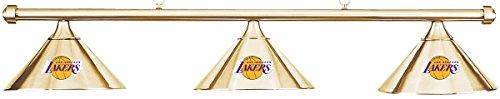 Imperial NBA LA Los Angeles Lakers Brass Metal Shade/Brass Bar Billiard Pool Table Light