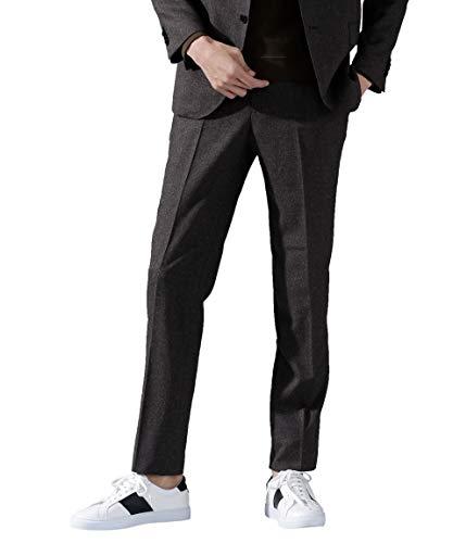 ナノユニバース 動けるスーツ DRAGO フランネル パンツ メンズ 52 ブラウン