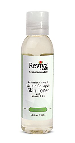 Reviva Labs Elastin Collagen Skin Toner with Vitamin A & E, 4 ounce