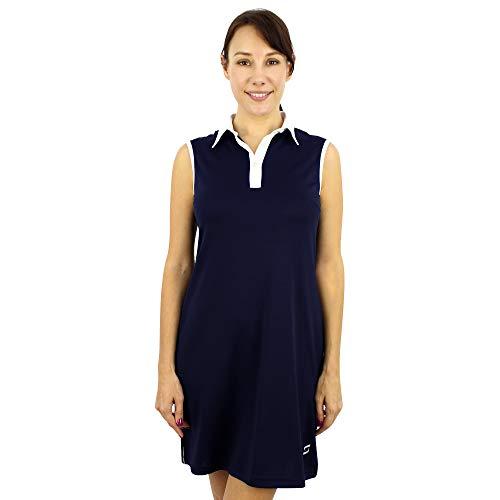 SAVALINO Women's Casual Tennis Dress (2XL, Navy)