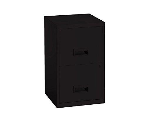 Pierre Henry 771729 - Meuble de rangement pour dossiers 2 tiroirs - couleur noir