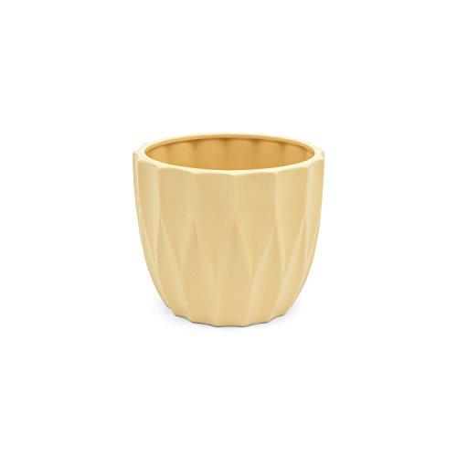 Vaso in ceramica serie AMSTERDAM di Polnix, altezza 10 cm, colore: crema
