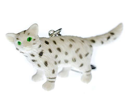 Miniblings Egyptain Mau Katze Schlüsselanhänger Ägypten Cat Katze - Handmade Modeschmuck I I Anhänger Schlüsselring Schlüsselband Keyring