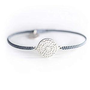 Armband Gänseblümchen Mandala Glücksbringer 925 Silber