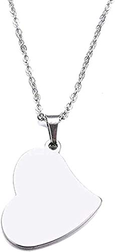 ZHIFUBA Co.,Ltd Necklace Woman Necklace Stainless Steel Necklace Real Heart Pendant Necklace Jewelry Size 45Cm
