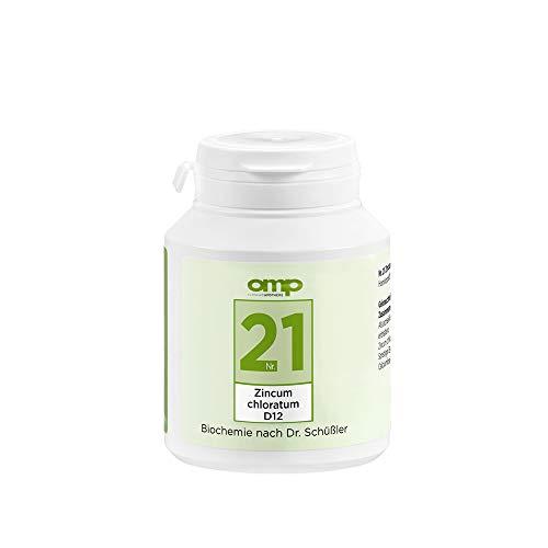 Schüssler Salz Nr. 21 Zincum chloratum D12 | 400 Tabletten | Das Salz für Enzyme, Nerven und Wachstum | glutenfrei